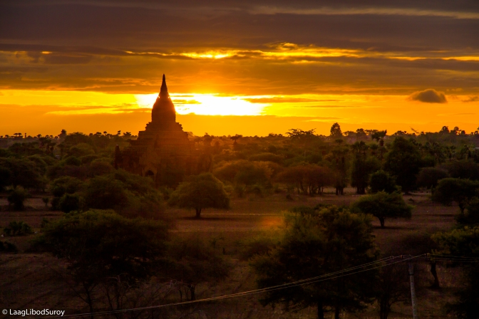 Arriving Bagan, Burma and Watching the Sunrise.